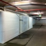 5000 Litre Colorbond Slimline Comercial use Tanks interlinked at Catalina Resort under ground car park