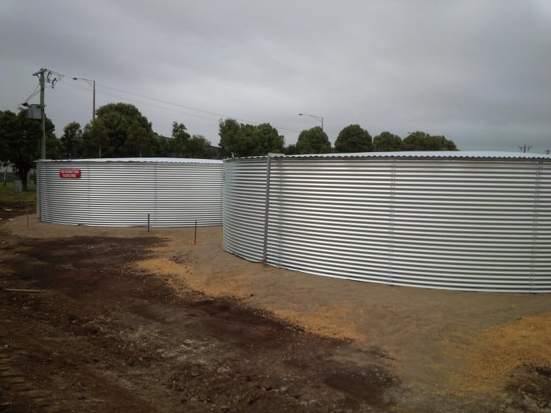 2 x 187,000 Litre build onsite fire service tanks at Warrnambool Airport